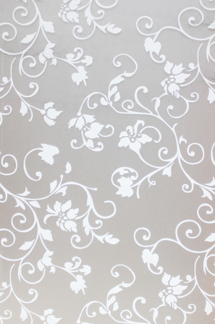 """Chois Farmhouse Style Flowers Florals Frosted Window Static Cling Films, 35""""."""