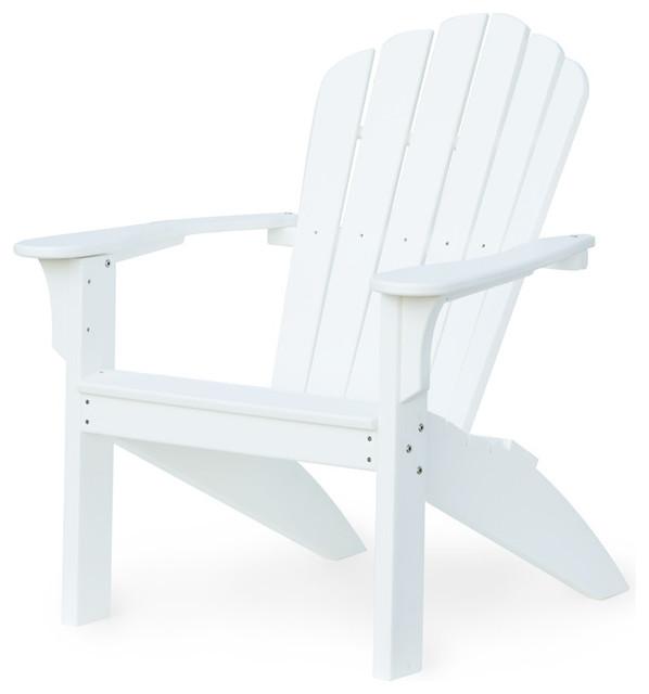 Harbor View Adirondack Chair, White Traditional Adirondack Chairs