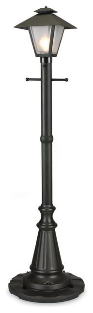 Cape Cod 67000 - Black - Single Coach Lantern Patio Lamp.