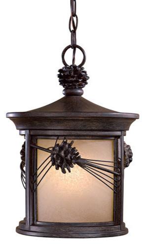 The Great Outdoors Abbey Lane Cfl 1 Light Lantern Pendant.