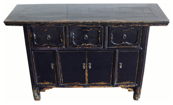 Consigned Antique, Dark Blue Altar Sideboard - Rustic - Buffets And Sideboards - by DYAG - East