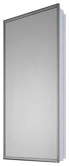 """Medicine Cabinet, 18""""x42"""", Bright Annealed Stainless Steel Frame"""