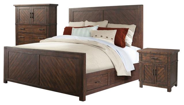 Dex King Platform Storage 3 Piece Bedroom Set Rustic Furniture Sets By Picket House