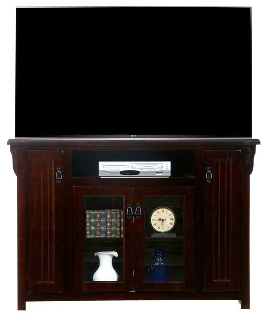 Poplar Tall TV Stand - Transitional - Entertainment Centers And Tv Stands - by American Heartland