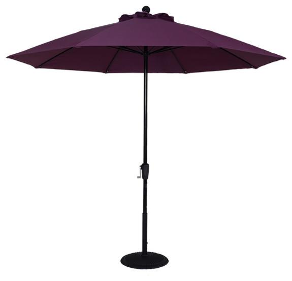 Crank No Tilt Umbrella, Silver.