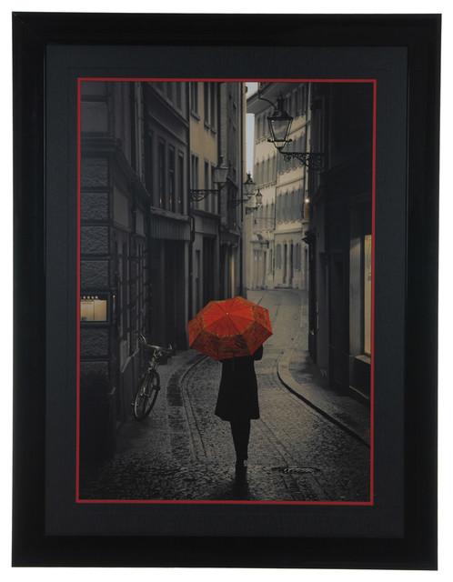 """red Rain"" Framed Print, 34""x44""."