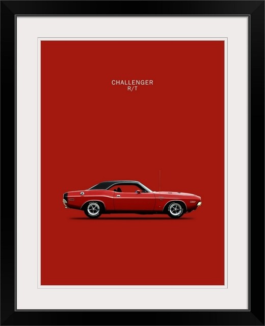Dodge Challenger R T 1970 Black Framed Art Print Contemporary Prints And Posters By Great Big Canvas
