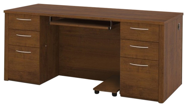 "Embassy 71"" Executive Desk Kit, Tuscany Brown"