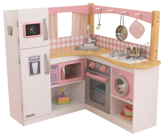 Kidkraft home indoor decorative kids pretty girls grand for Kitchen set game