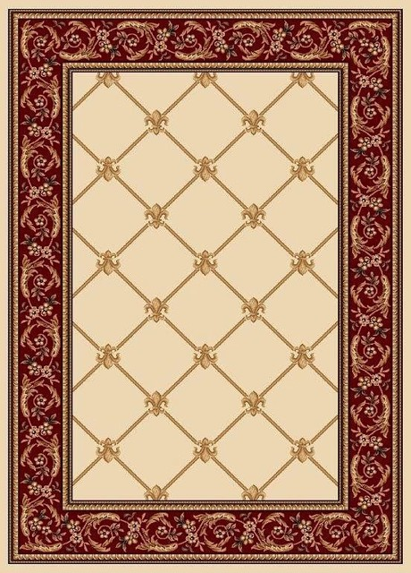 Infinity home source contemporary timeless fleur de lis for Contemporary runner rugs for hallway