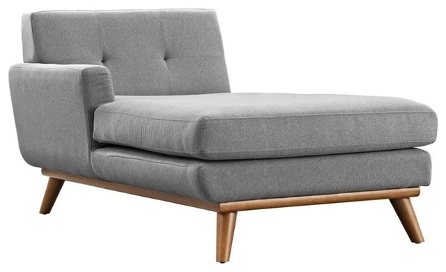 Hawthorne Collection Left Arm Chaise Lounge, Expectation Gray.