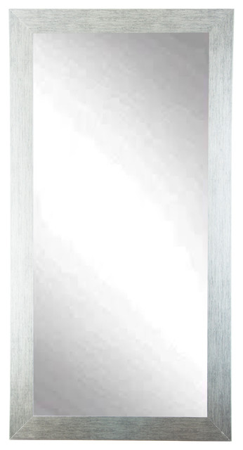 "Brandtworks Stainless Grain Floor Mirror, 32""x71""."