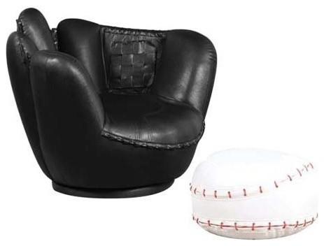 Admirable All Star 2 Piece Youth Chair And Ottoman Set Baseball Inzonedesignstudio Interior Chair Design Inzonedesignstudiocom