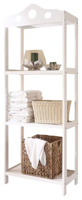 white wooden bathroom furniture. Free-Standing White Wooden 3-Tier Bathroom Storage Shelf Furniture N