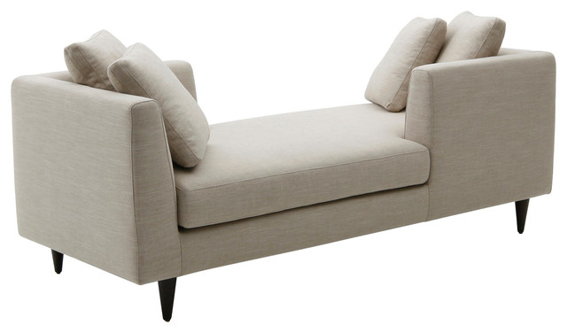 Elan Double End Chaise Lounge Midcentury Indoor Chairs By Focus One Home Inc