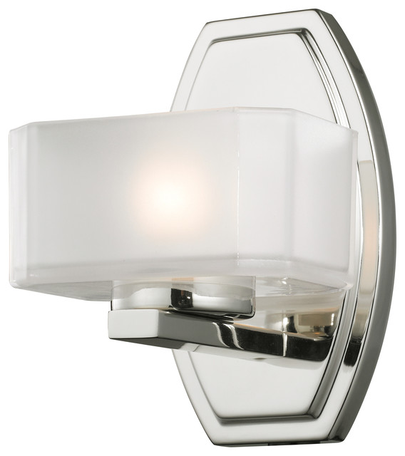 Bathroom Vanity Lights Contemporary : Z-Lite 1 Light Vanity Light - Contemporary - Bathroom Vanity Lighting - by Lighting Pavilion