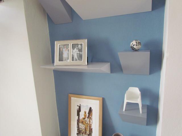 Progettazione e studio colori per nicchia in soggiorno ...