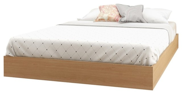 Kabane Platform Bed, Natural Maple.