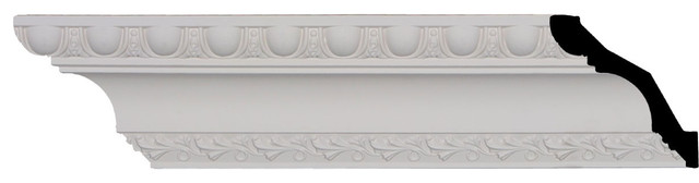 """Egg and Dart Crown Moulding, 3 1/4""""H x 3 1/4""""P x 4 5/8""""F x 96""""L - Traditional - Molding And Trim ..."""