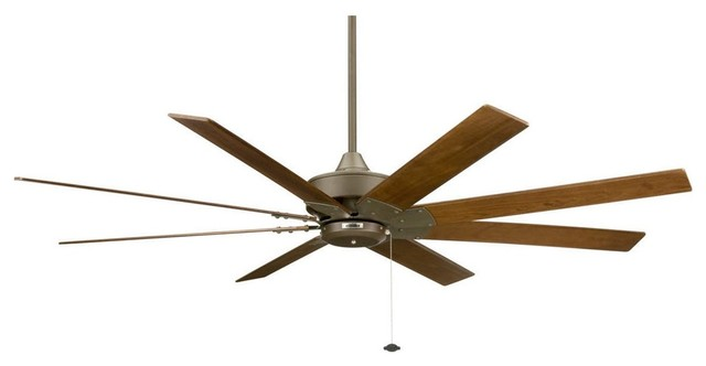 Fanimation 63 Levon Ceiling Fan, Oil Rubbed Bronze, Walnut Blades.
