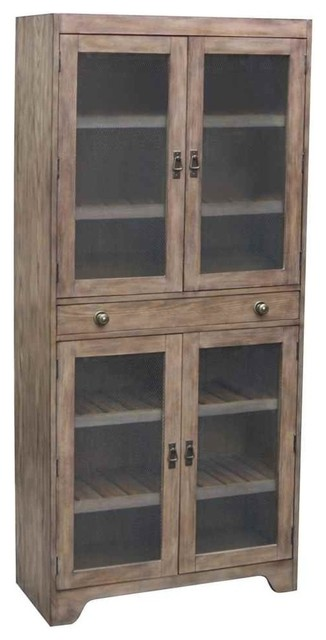 Riverside Furniture Wood Bunching Cabinet - China Cabinets And Hutches | Houzz