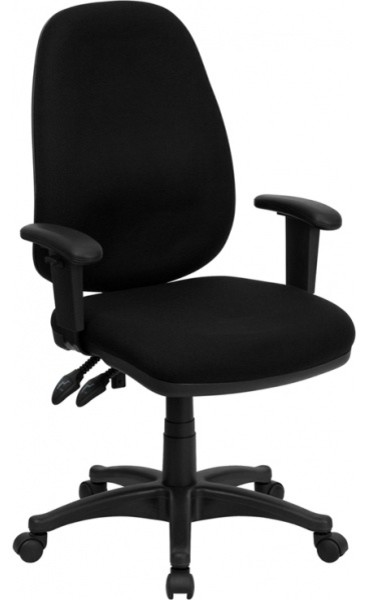 black fabric office chair - contemporary - office chairs -