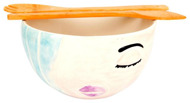 Azurra Bowl, Light Blue, Large