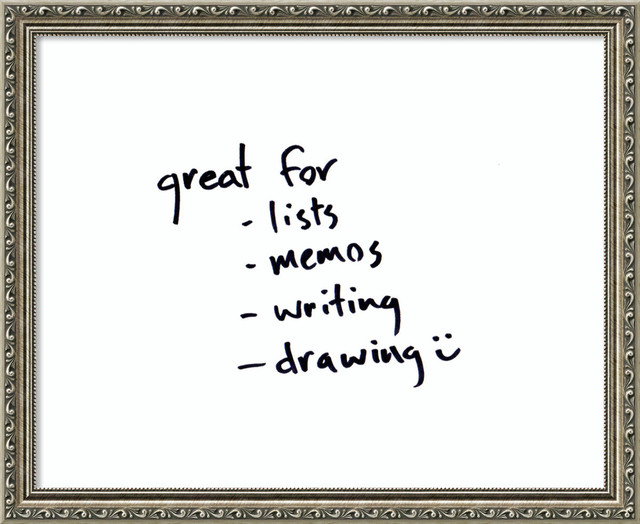 Amanti Art - Parisian Silver Glass Dry-Erase Board, white,, Small ...