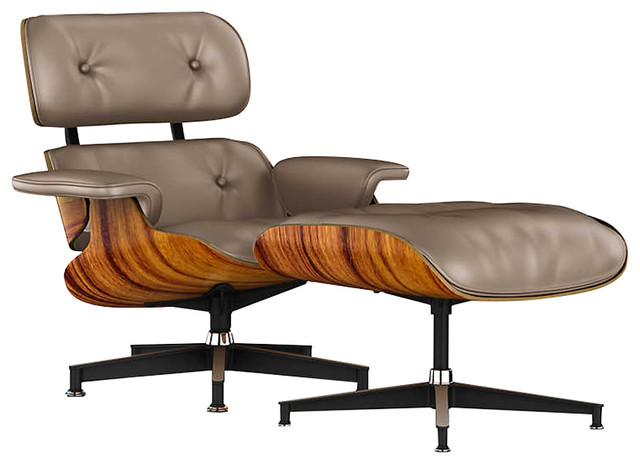 Eames Lounge Chair And Ottoman By Herman Miller, Santos Palisander, Color,  Soot