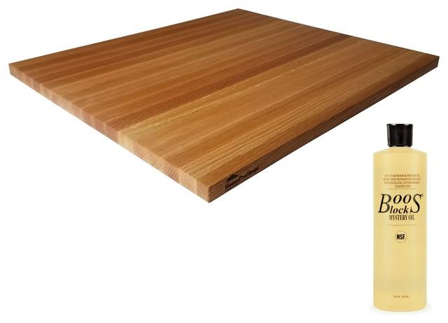 Red Oak Wood Butcher Block Cutting Board With John Boos Oil 3 4 X18