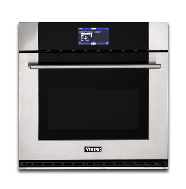 Viking 30 Wide Single Convection Oven Stainless Steel.