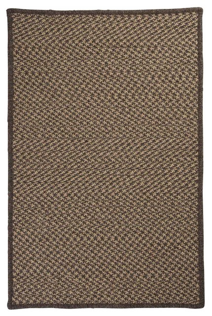 Colonial Mills Natural Wool Houndstooth Collection HD34 Caramel Modern Rug