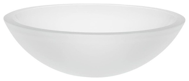 Translucence Vessel Sink, Frosted Glass Crystal