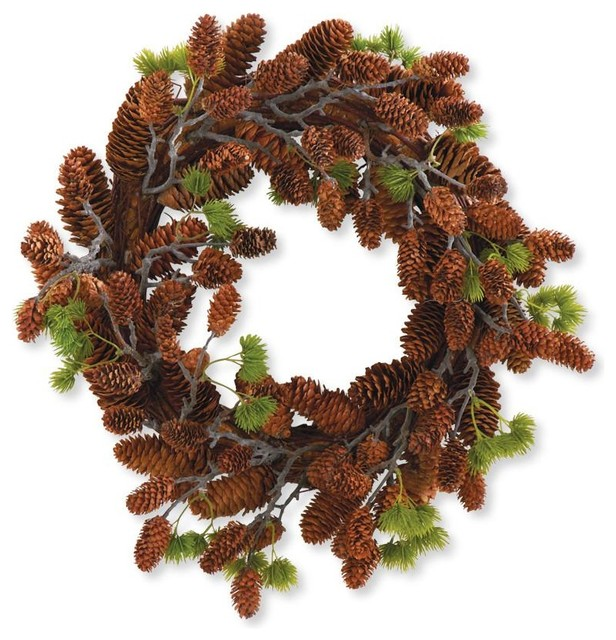 18 Pinecone Wreath.