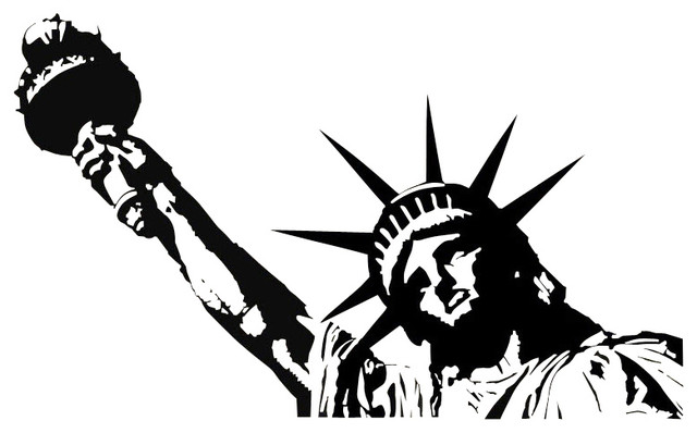 Statue Of Liberty Vinyl Wall Decal Contemporary Wall Decals Part 59