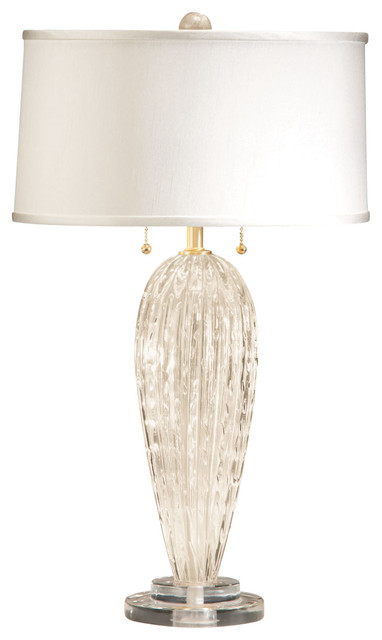 venetian glass table lamp white and gold
