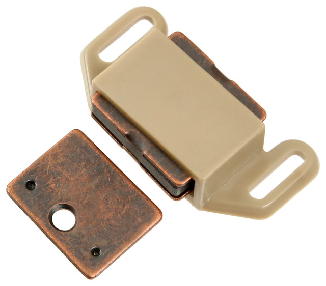 """Hickory Hardware Catches Collection Catch, 1-5/8"""" C/C - Tan Plastic - Transitional - Home ..."""