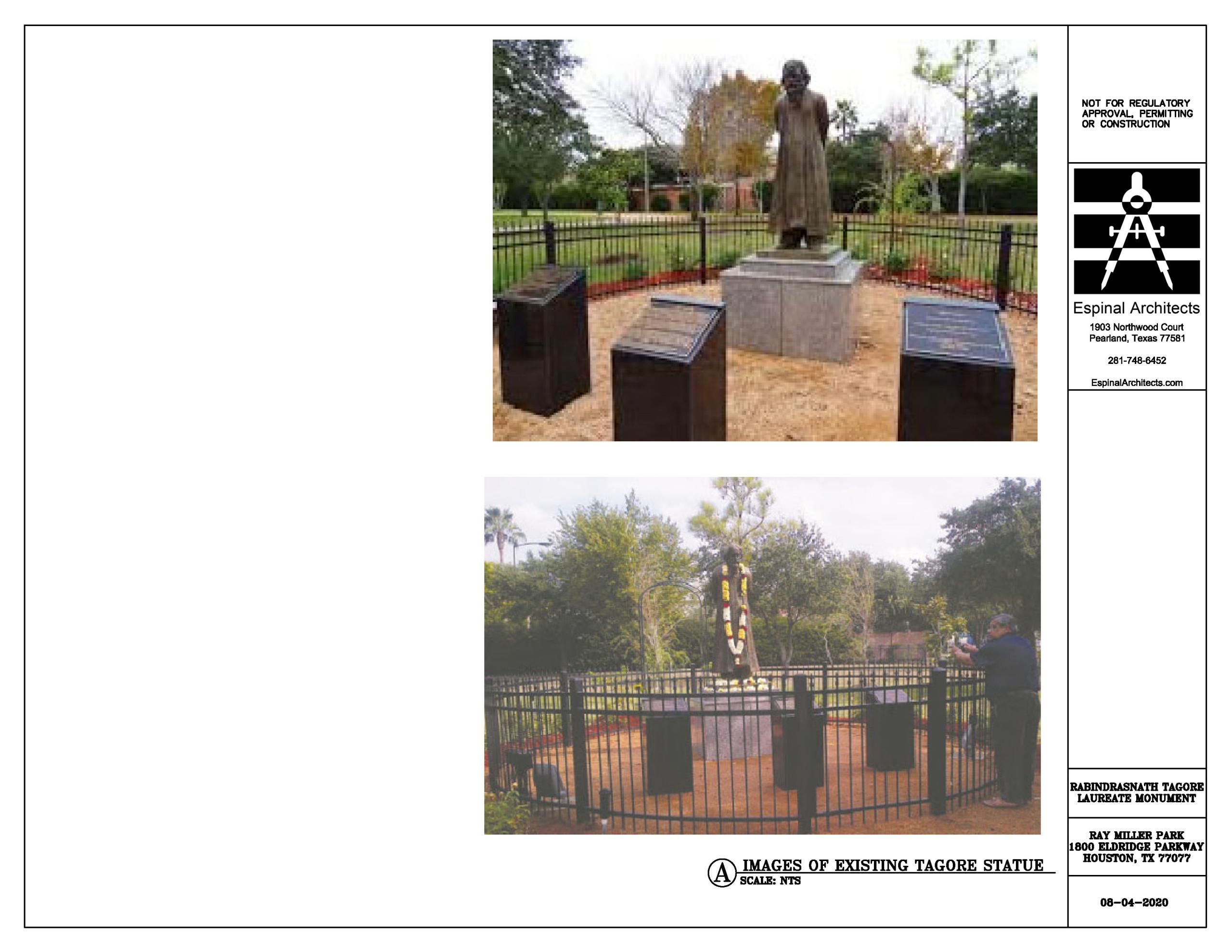 Rabindranath Tagore Laureate Monument