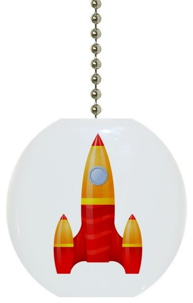 Yellow Red Rocket Ceiling Fan Pull Contemporary Ceiling Fan Accessories By Carolina Hardware And Decor Llc
