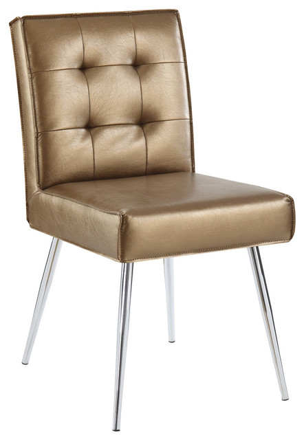 Susie Tufted Retro Dining Chair, Copper.