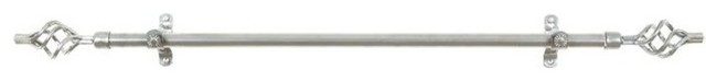 "Metallo Decorative Rod And Finial Silver, 48""-86""."