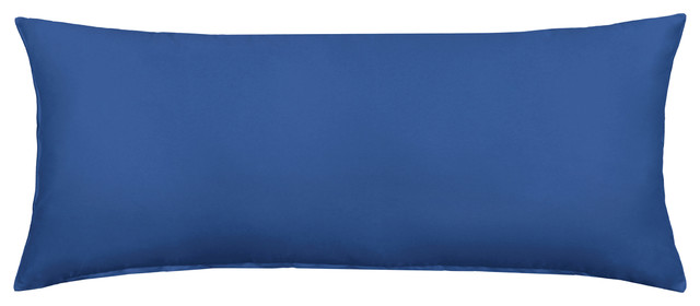 Solid Dark Blue Body Pillow Cover 40x40 Contemporary Simple Body Pillow Cover 20 X 54