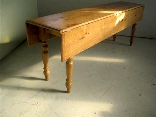 Reclaimed Barn Wood Oak Drop Leaf Table