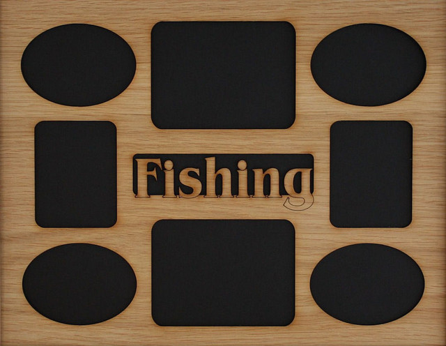 11x14 Fishing Picture Frame Collage Mat Insert Contemporary