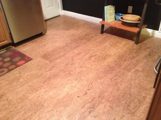 Cork floor in los gatos kitchen for Hardwood floor dealers