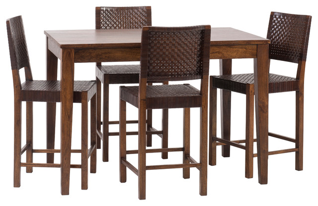 Sonoma Counter Table With 4 Saddler Counter Stools 24