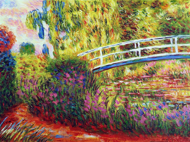 the painting of the japanese bridge by monet The japanese bridge, pond with water lilies, 1900 by claude monet is printed with premium inks for brilliant color and then hand-stretched over museum quality stretcher bars 60-day money back guarantee and free return shipping.