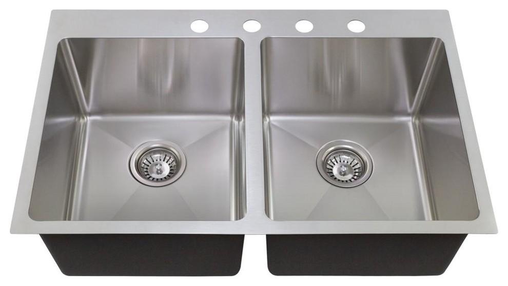 MR Direct T1823 Topmount Single Bowl 3//4-Inch Radius Kitchen Sink