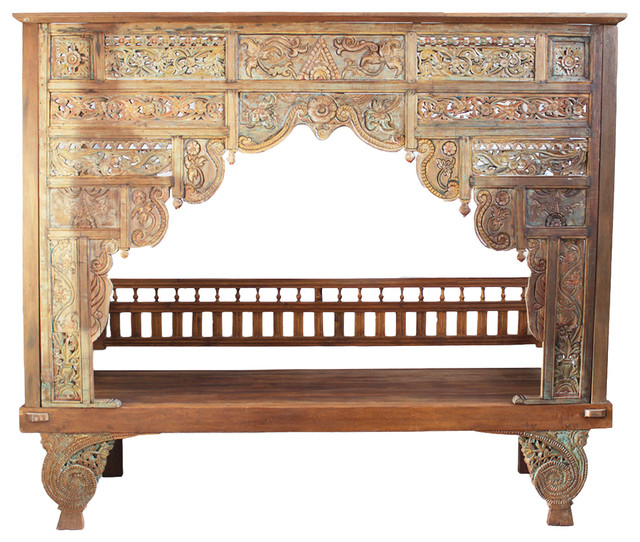 Royal dining room furniture - Balinese Teak Canopy Bed Eclectic Canopy Beds By