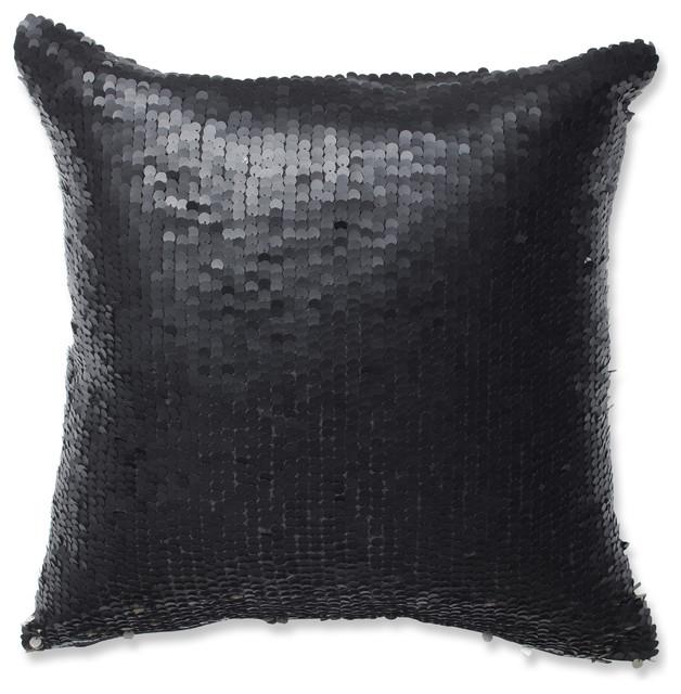 Black Silver Throw Pillow : Mermaid 18